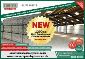 1.2m High Concrete Panels