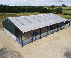 2.5m High Panels for Livestock Shed